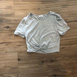 Tobi Xs t-shirt crop top. Only warn once.
